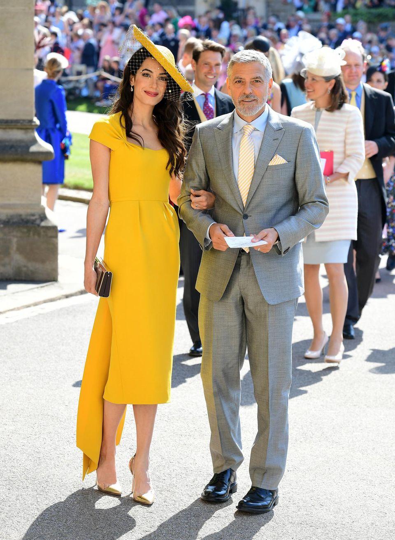 Absoluter Hingucker: Schauspieler George Clooney mit seiner Frau Amal