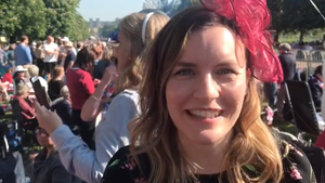 Stern-Redakteurin Sarah Stendel fragt vor Schloss Windsor die Briten, was sie von der geschiedenen Amerikanerin Meghan Markle als Prinzessin halten