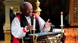 US-Bischof Michael Bruce Curry sorgte mit seiner heiteren Rede bei den Royals für so manch erstauntes Gesicht
