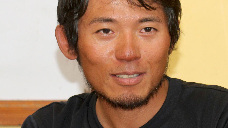 Der japanische Bergsteiger Nobukazu Kuriki im Oktober 2015 auf einer Pressekonferenz