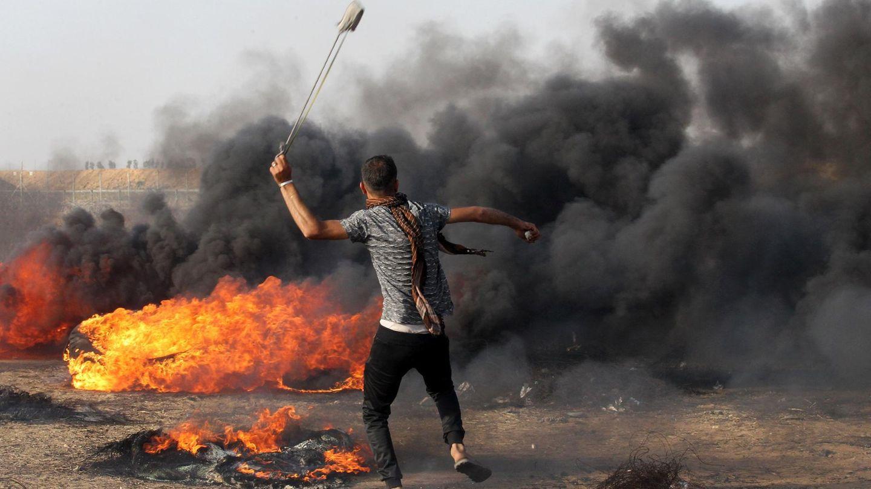 Mit Steinschleudern gegen Präzisionsgewehre. Israel wirft der Hamas vor, gezielt Opfer in Kauf zu nehmen.