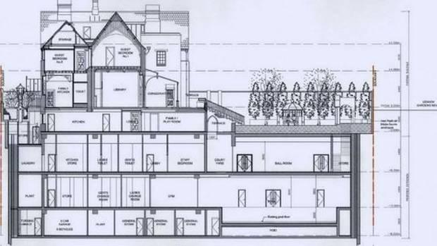 Eisberghaus: Der Keller ist weit größer als das alte Haus.