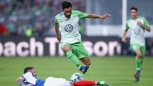 Die Relegation um den Aufstieg in die erste Bundesliga: Der VfL Wolfsburg hat gegen Holstein Kiel die Klasse gehalten