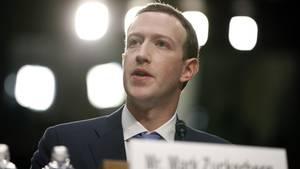 Facebook-Chef Mark Zuckerberg bei seiner Anhörung in Washington