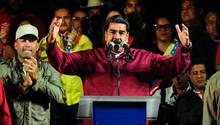 Venezuelas Präsident Nicolas Maduro hält Siegesrede