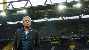 Bislang kannte Lucien Favre den Signal Iduna Park nur von seinen Gastspielen als Trainer von Borussia Mönchengladbach (Foto). In Zukunft wird der Schweizer hier die Dortmunder Borussia als Coach aufs Feld schicken