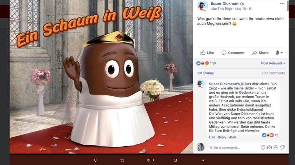 """Facebook-Post von """"Super Dickmann's"""""""