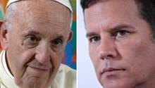 Papst Franziskus (l.) und Juan Carlos Cruz