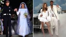Prinz Harry und Meghan Markle bei ihrer Hochzeit. Cheryl Tweedy und Ashley Cole waren vier Jahre verheiratet.