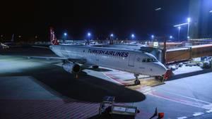 Ein Flugzeug der Turkish Airlines