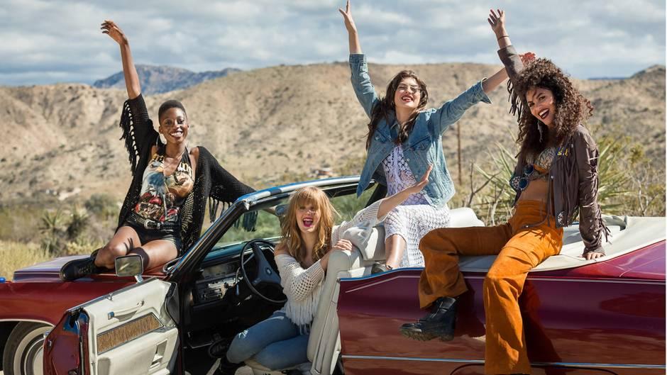 Diese vier stehen im GNTM-Finale der 13. Staffel: Toni, Pia, Christina und Julianna (v.l.n.r.)
