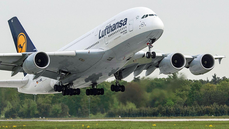 Das Flaggschiff der Lufthansa: Der Airbus A380 wird auch auf Strecken ab Frankfurt und München zu Zielen in Nordamerika eingesetzt.