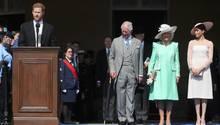 Prinz Harry hält eine Rede zu Ehren des 70. Geburtstag seines Vaters Prinz Charles