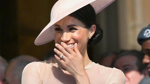 Meghan Markle, die neue Herzogin von Sussex bei der Gartenparty im Buckingham Palast