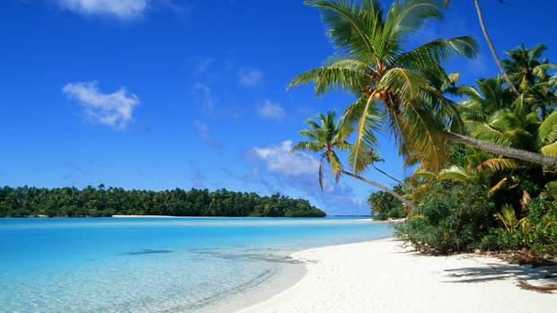"""Die Meuterei auf der """"Bounty"""" brach in der Lagune von Aitutaki aus. Wer wollte von hier aus auch schon zurück nach England?"""