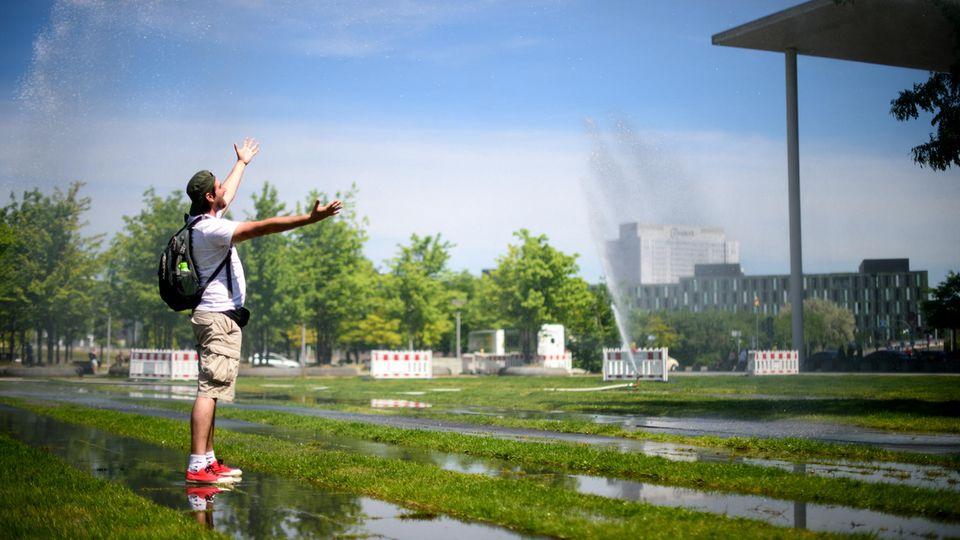 Wassersprenger in Berlin