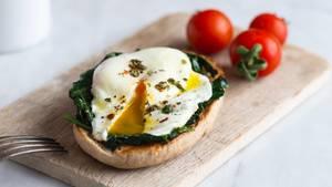 Das Frühstücksei schmeckt und ist gesund