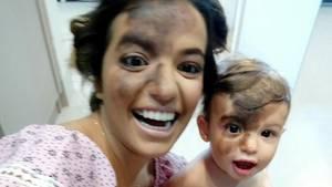 Carolina Giraldelli und ihr kleiner Sohn Enzo