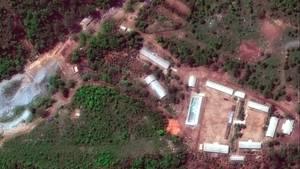 Luftaufnahme der Atomtestanlage Punggye Ri in Nordkorea