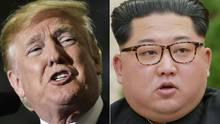 US-Präsident Donald Trump und Nordkoreas Machthaber Kim Jong Un