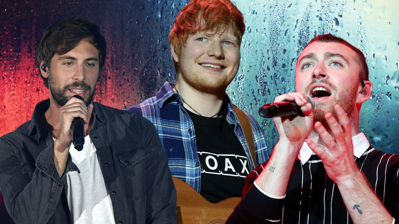 (v.l.) Max Giesinger, Ed Sheeran und Sam Smith