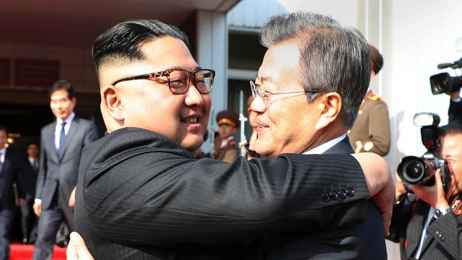 Kim Jong Un und Moon Jae In