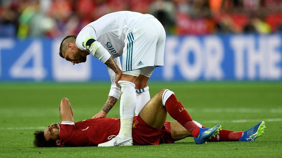 Garcia Sergio Ramos nach dem Foul an Mohamed Salah