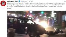 Autofahrer dreht durch als New Yorker Polizei ihn stoppt