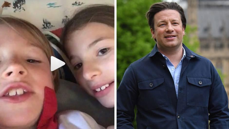 Smartphone stibitzt: Jamie Olivers Kinder singen ihm ein Geburtstagslied auf Instagram