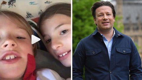 Ständchen zum Geburtstag: Jamie Olivers Kinder stibitzen sein Smartphone - und posten ein Video auf Instagram