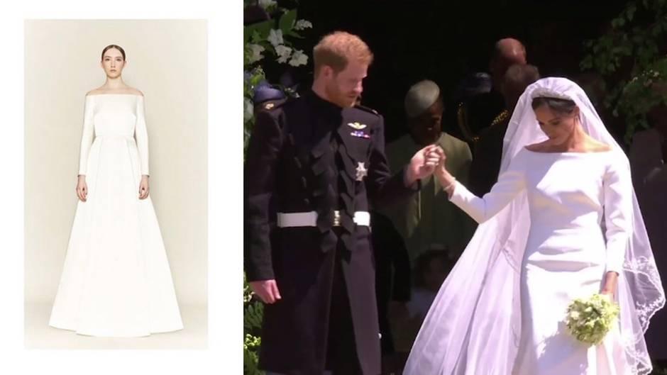 Streit mit Kates Designerin: War Meghan Markles Hochzeitskleid ein Imitat?