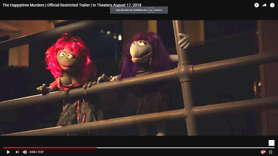 """Zwei puppen, nicht aus der Sesamstraße, sondern aus """"The Happytime Murders"""""""
