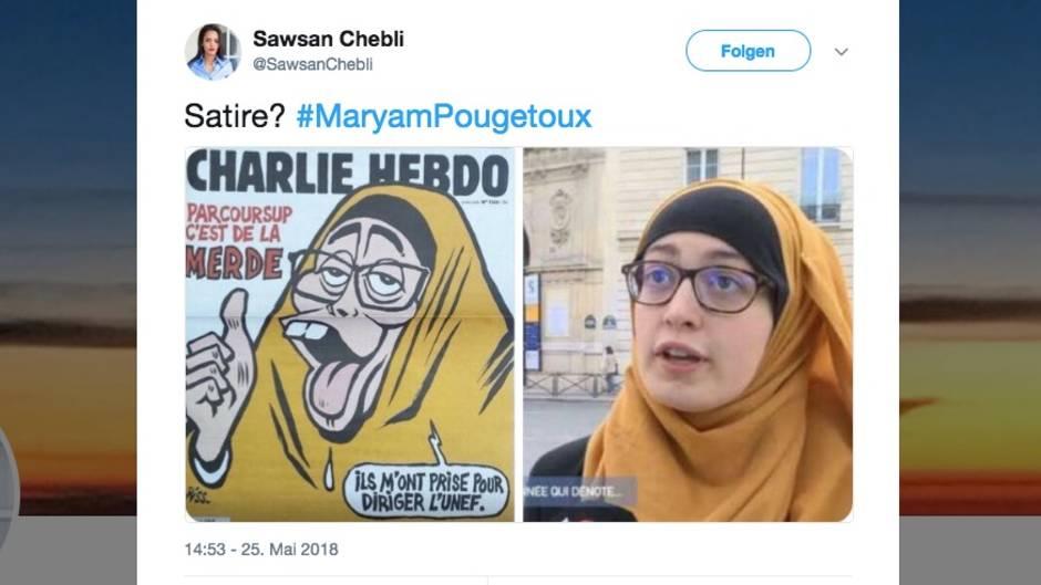 Charlie Hebdo-Cover zeigt eine Muslima mit gelbem Kopftuch - dargestellt als Affe