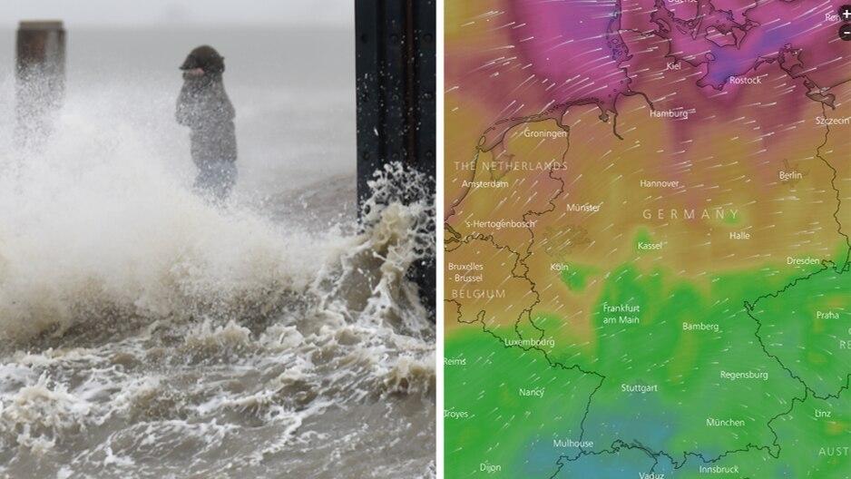 Wetter Heute Live Karte Zeigt Wo Es Gerade Besonders Stürmt Sternde