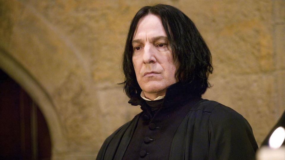 "Alan Rickman als Snape in ""Harry Potter"""
