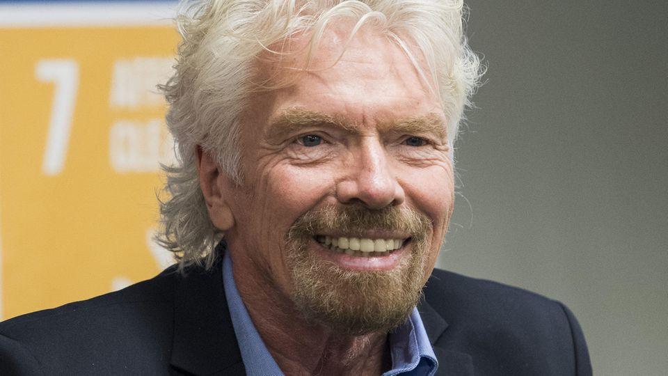 Der britische Milliardär und Gründer der Virgin-Gruppe, Richard Branson