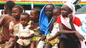 Kinder in einem Flüchtlingslager im Südsudan