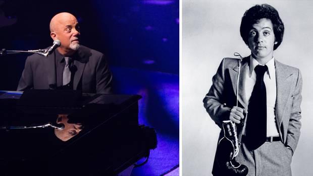 Früher verteilte Billy Joel auch mal harte Schläge (r.); inzwischen lässt er es ruhiger angehen. L.: im April 2017 bei einem Konzert in New York