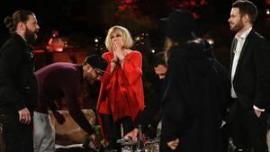 Mary Roos war sichtlich mitgenommen von der Performance von Rea Garvey