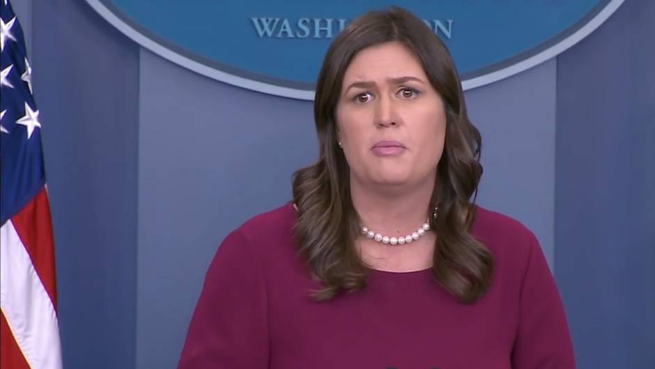 Pressesprecherin des Weißen Hauses: Diese Frage rührt Sarah Sanders fast zu Tränen