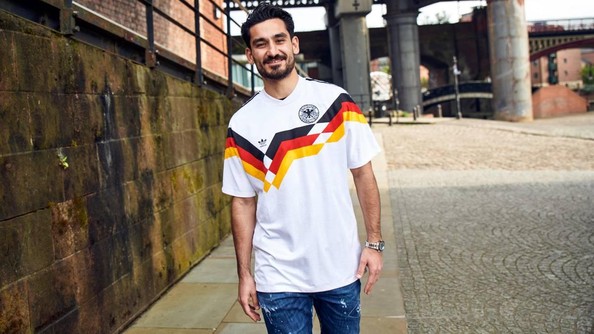 Ilkay Gündogan signiert M Manchester City Deutschland Trikot DFB
