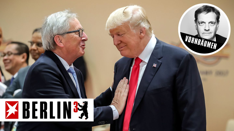 EU-Kommissionspräsident Jean-Claude Juncker (l.) und US-Präsident Donald Trump