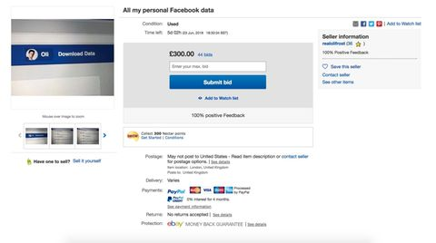 Screenshot von der Ebay-Auktion