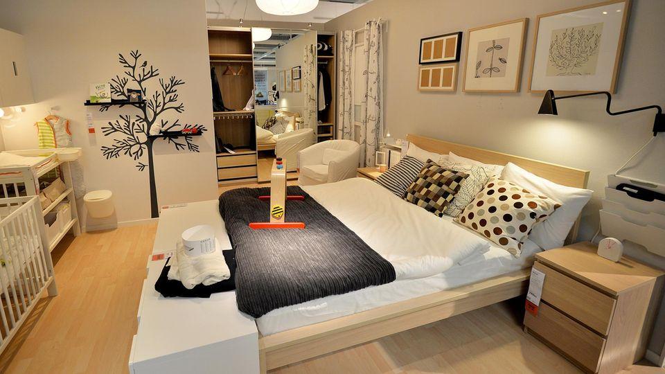 Musterschlafzimmer bei Ikea
