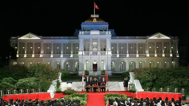 Singapur: Präsidentenpalast Istana