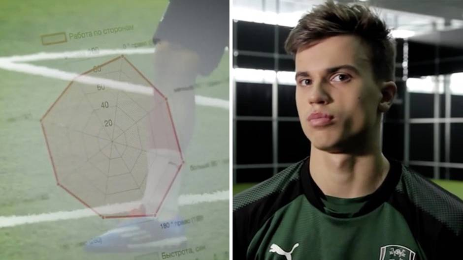 Training ohne Mitspieler: Hightech-Trainingsraum: Hier drillt Russland die Fußballprofis von morgen