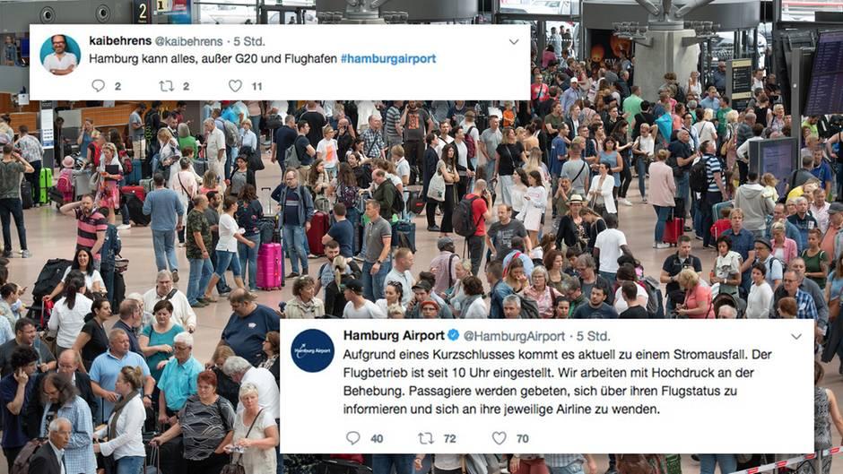 Twitter-Reaktionen: Ärger, Humor und ein gestrandeter Promi – das Netz zum Stromausfall am Hamburger Airport