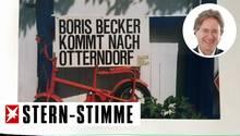 Nach dem Wimbledonsieg versuchte auch Frank Behrendts Fahrradverleih ein bisschen von Boris Beckers Popularität zu profitieren