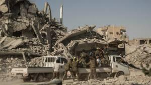 Streitkräfte der Anti-IS-Koalition in Rakka, Syrien