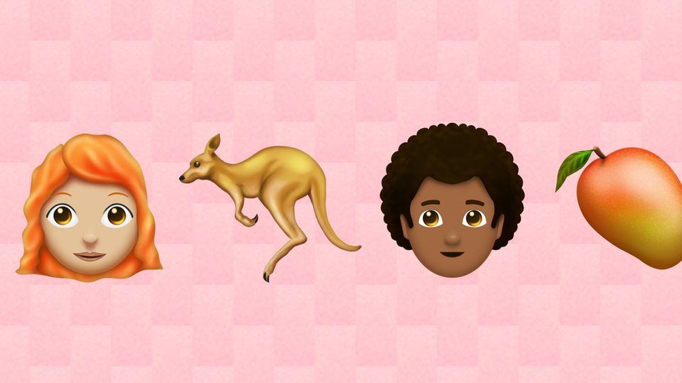 Einige der neuen Emojis